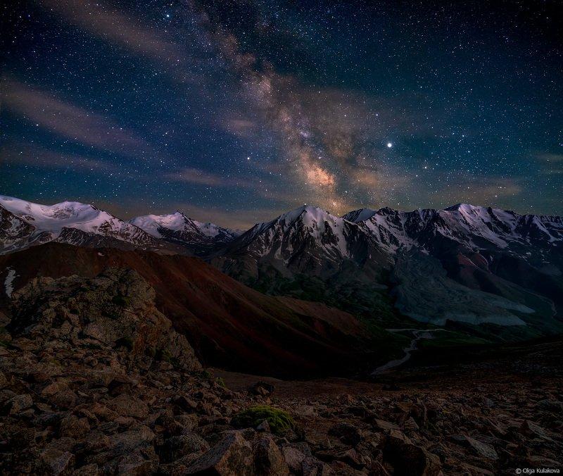 Летняя ночь в Большом Алматинском Ущельеphoto preview