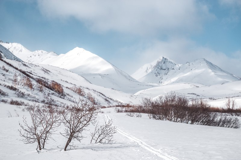 Камчатка, зима, горы Зимний путьphoto preview