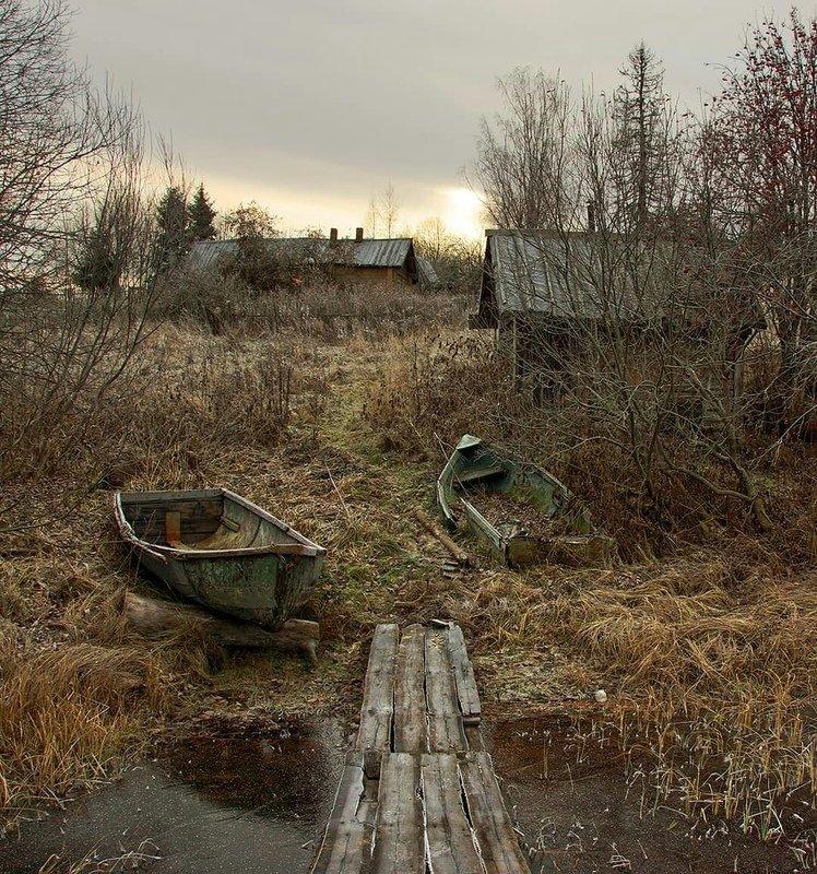 деревня, осень Ноябрьское настроениеphoto preview