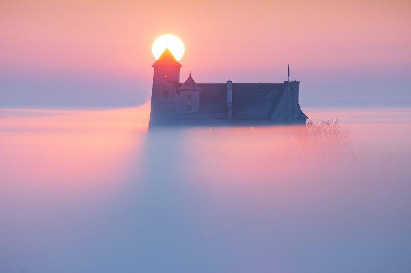 bobolice, marcin rydzewski, autumn, fall in bobolice, fall, jesień, sunrise, wschód, 35awards, 35photo, mglisty poranek,  Bobolice castlephoto preview