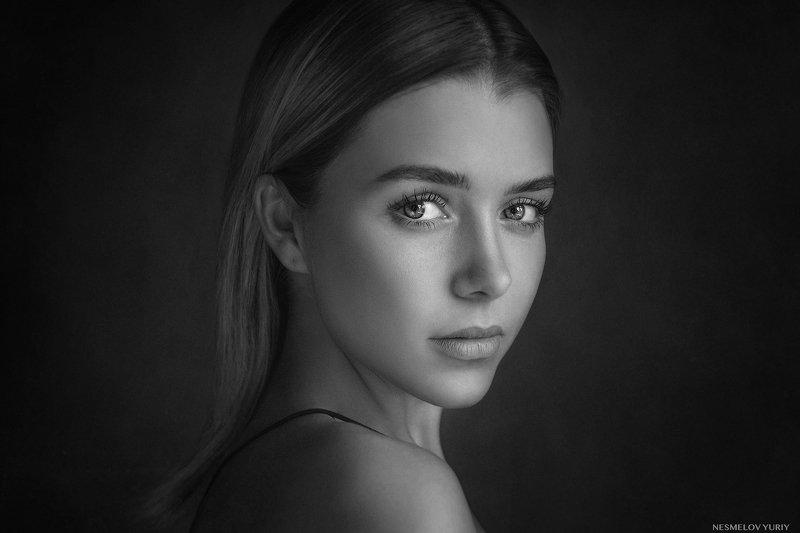girl, portrait, art, девушка, портрет, черно-белое, blackandwhite photo preview