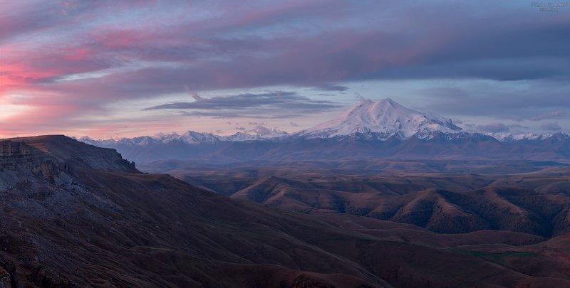 бермамыт, приэльбрусье, эльбрус, кавказ, северный кавказ, осень, рассвет, горы \