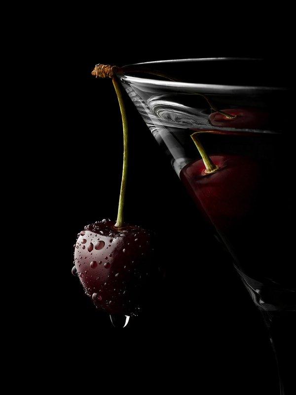 вишня, черешня, капли, фудфото Cherryphoto preview