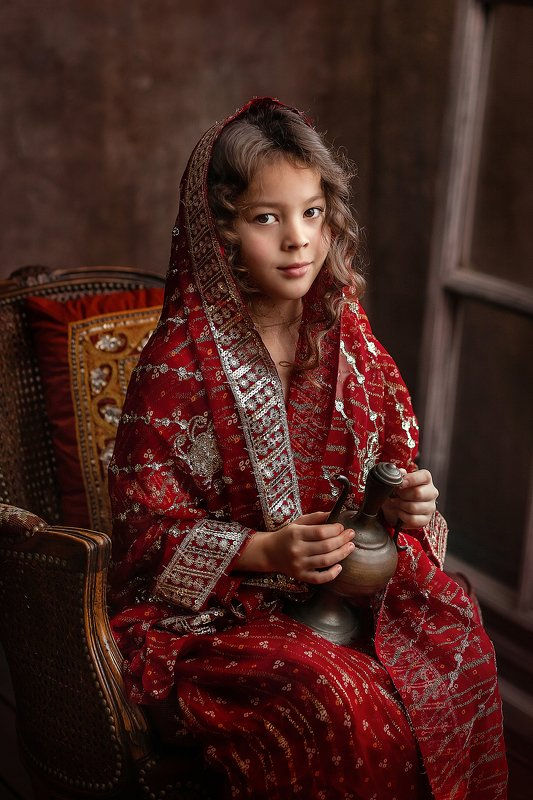 девочка, портрет, сказка Принцесса Жасминphoto preview