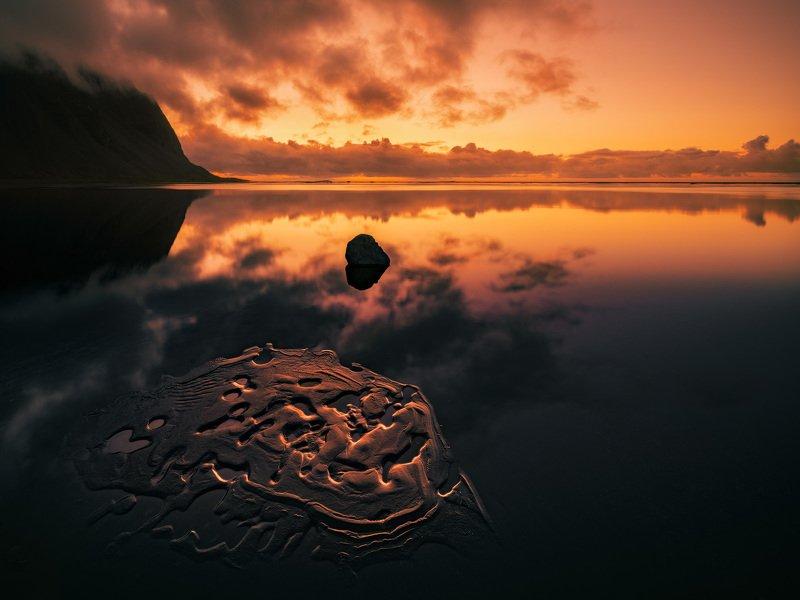 исландия, iceland, стокснес, stokksnes, dawn, рассвет Пылающий рассветphoto preview
