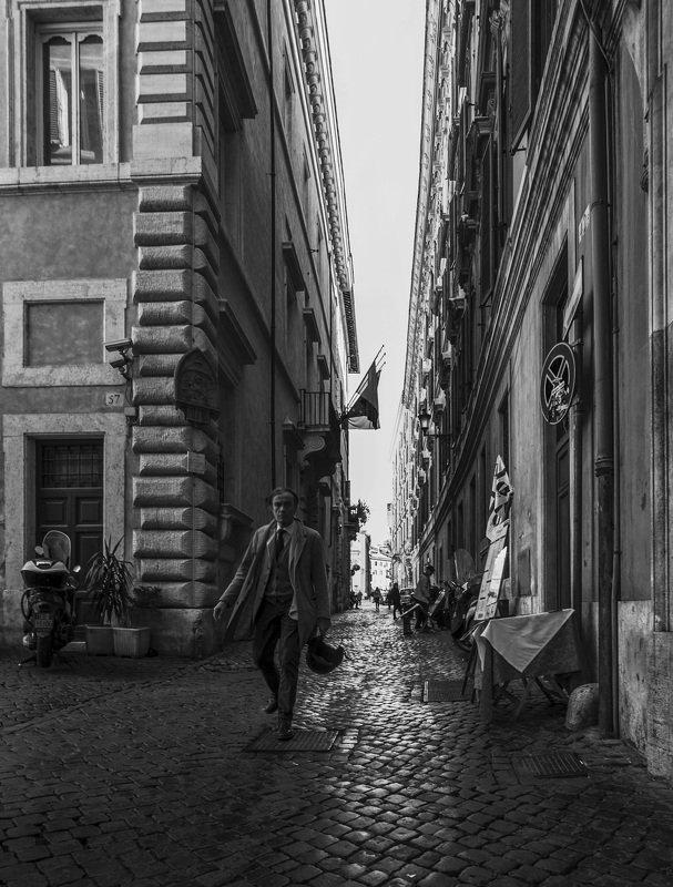 Рим, Италия, стрит, монохром, улицы, город, люди, черно-белое Прогулки по Римуphoto preview
