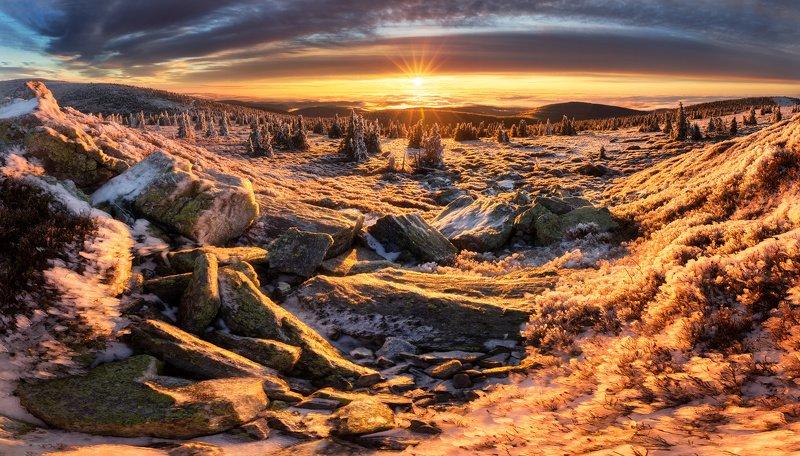 landscape, tree, sunset, panorama Mountain Břidličnáphoto preview