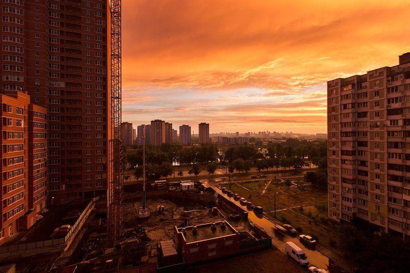 город, закат, киев, апокалипсис Вечерняя картинкаphoto preview