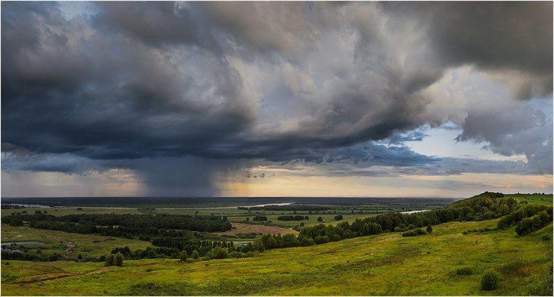 Clouds, Landscape, Nature, Panorama, Rain, Russia, Sky, Дождь, Небо, Облака, Облако, Панорама, Пейзаж, Природа, Россия Only happy when it rainsphoto preview