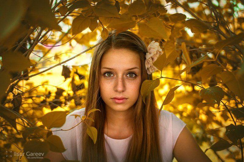 девука, портет, листва Nastyaphoto preview
