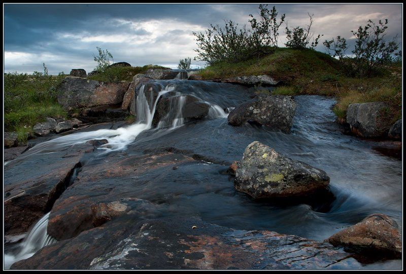 водопад, кольский полуостров, лето *****photo preview