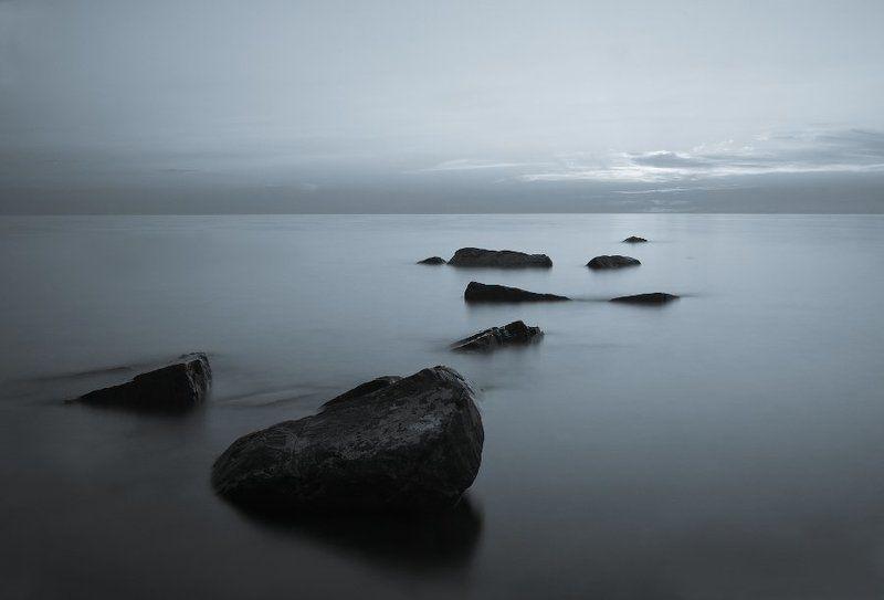 большой утриш, море, вечер, камни, тишина photo preview