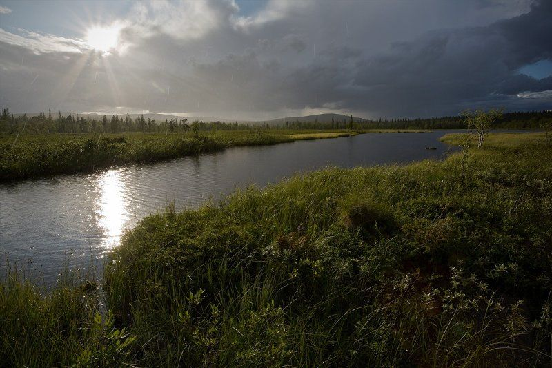 кольский, полуостров, лето, солнце, дождь Явление северной природыphoto preview