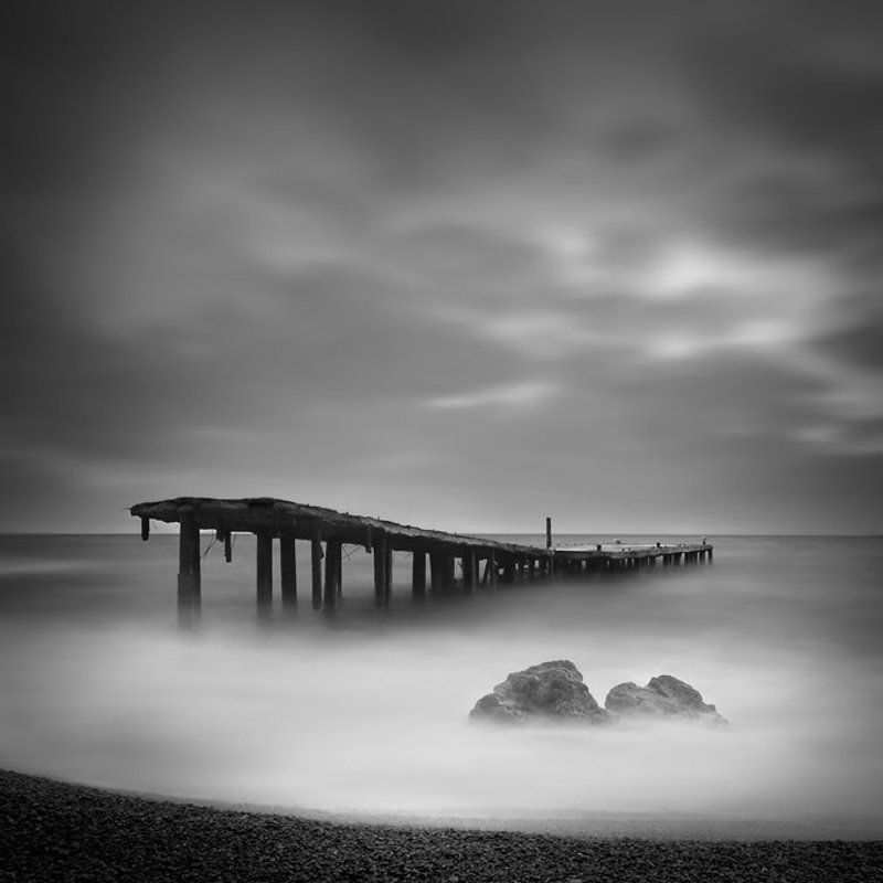bw, , , ndx8, , , крым, , , симеиз, , , longexposure, , , yury, bird, , , seascape, , , пейзаж, , , waterscape, , , nikon, , pier, stoned Stoned pierphoto preview