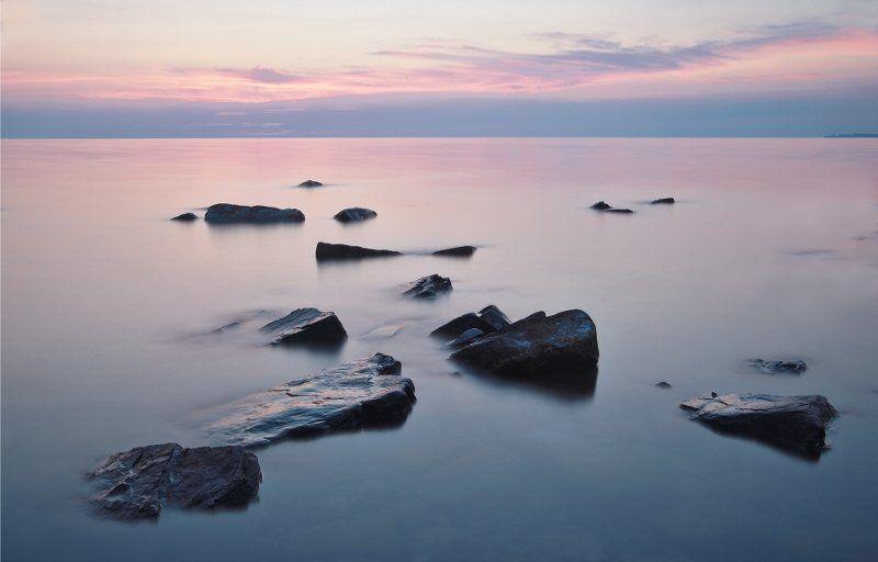 море, камни, закат, вода, большой утриш, анапа ***photo preview