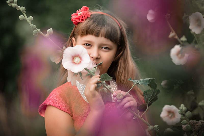 девочка, фотосессия, лето, портрет, прогулка Анжеликаphoto preview