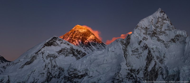 everest, sunset, mount, sagarmatha, nepal, mountain, khumbu, himalaya, base, camp, park, high, peak, evening, landscape, view, national, summit, himalayan, chomolungma, scenery, top, trekking, highest, sky, mt, red, travel, colored, nature, range, trek, s Everest summit or peak at sunset or sunrise. Everest base camp trek, tourism in Nepal, View from Kala Patharphoto preview