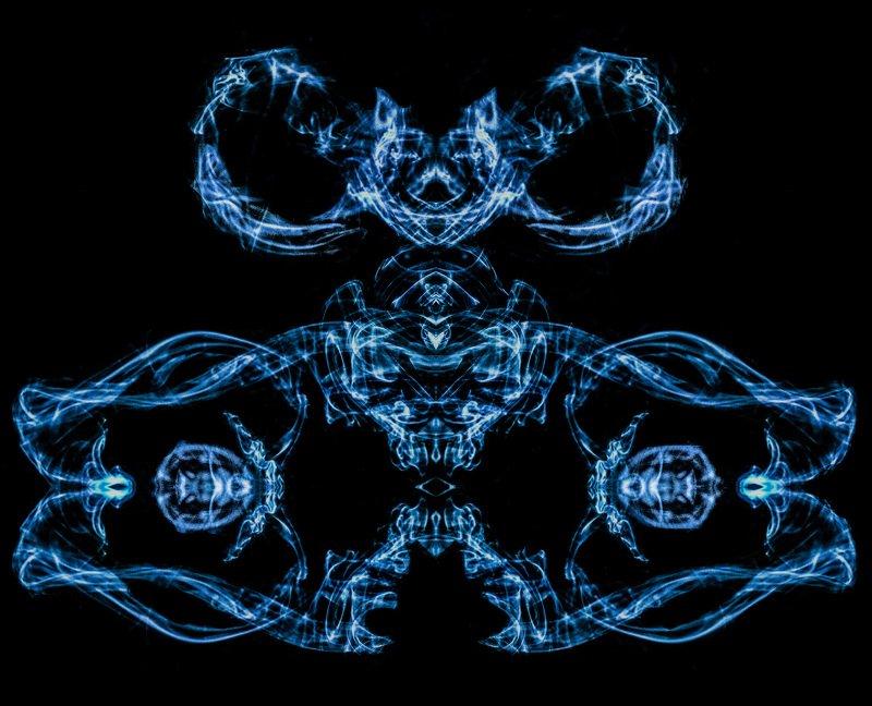smoke, art, blue, black, абстракция,  Bluephoto preview