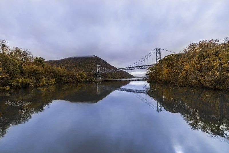 landscape, autumn, fall, colors, newyork, bridge, bear mountain Autumn colors of Bear Mountain, New Yorkphoto preview