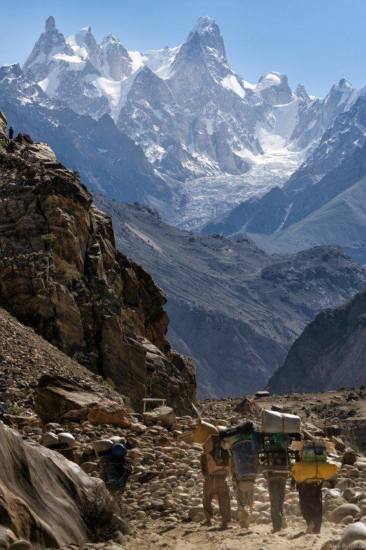 горы  Караван уходит в горыphoto preview