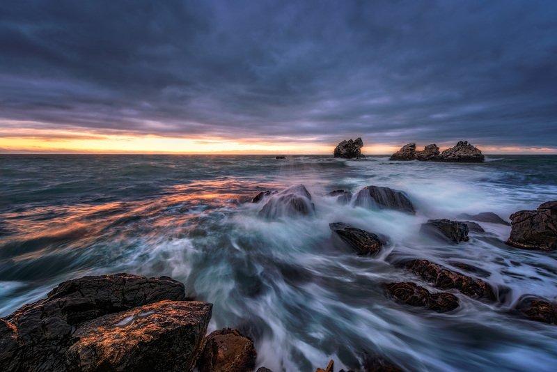 утро, солнце, крым, море, волны, берег Черноморский рассвет.photo preview