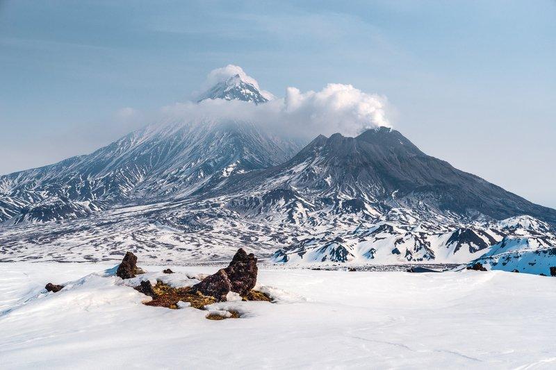 камчатка, безымянный, вулкан, зима, горы Апрель в стране вулкановphoto preview