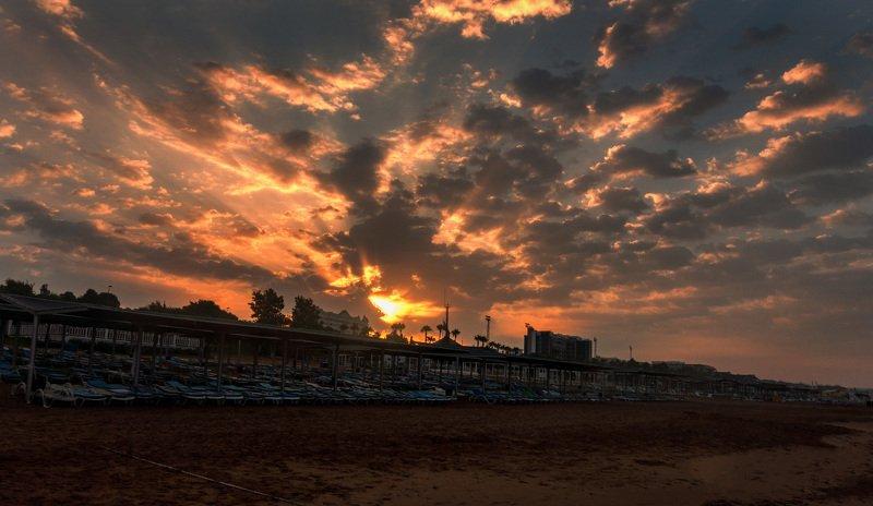 восход, лето, небо, облака, пляж, Турция, пейзаж Рассветphoto preview