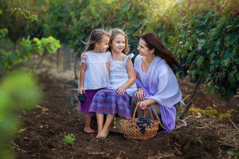 портрет, art, portrait, осень, sunset, закат, autumn, дети, девочки, girl, сестры, sister, волшебство, magik, виноград, виноградники, vine, grape, vineyards, happy, nikon, 105mm, kid, children, beautiful ***photo preview