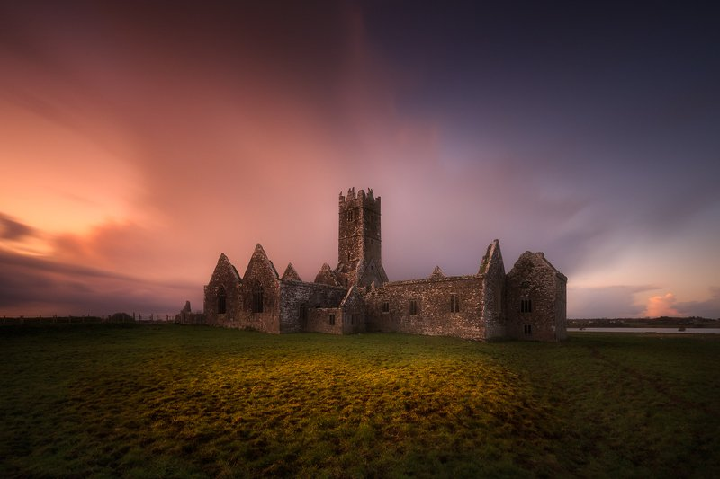 Ireland, Galway, long exposure, sunrise, sunset, clouds,landscape, travel Ross Errilly Friaryphoto preview