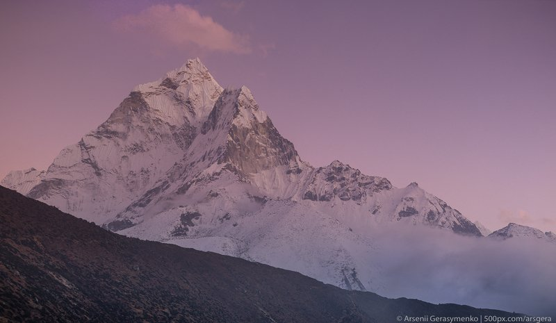 sky, landscape, nature, travel, outdoor, snow, asia, climbing, top, mount, mountain, nepal, cloud, peak, high, himalaya, alpinism, altitude, hiking, summit, himalayas, trekking, adventure, hike, himalayan, khumbu, mountainside, ama, amadablam, dablam Ama Dablam Summit in Khumbu region Nepal, Everest base camp trekphoto preview