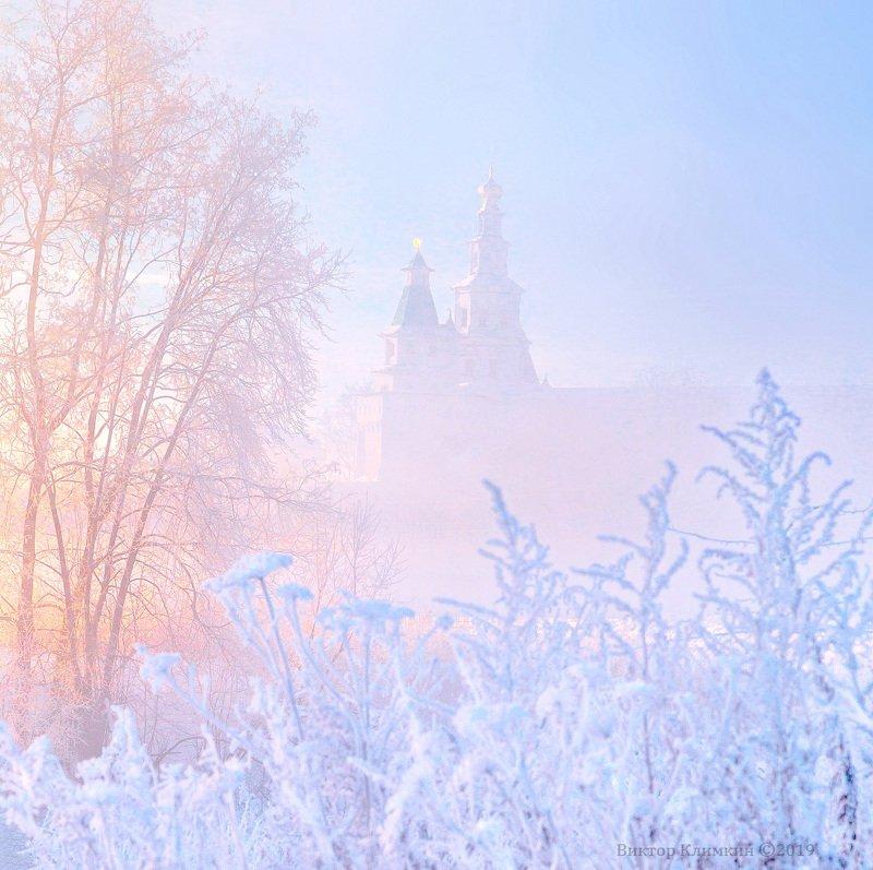 зима, утро, рассвет, река, истра, новоиерусалимский, монастырь На рассветеphoto preview