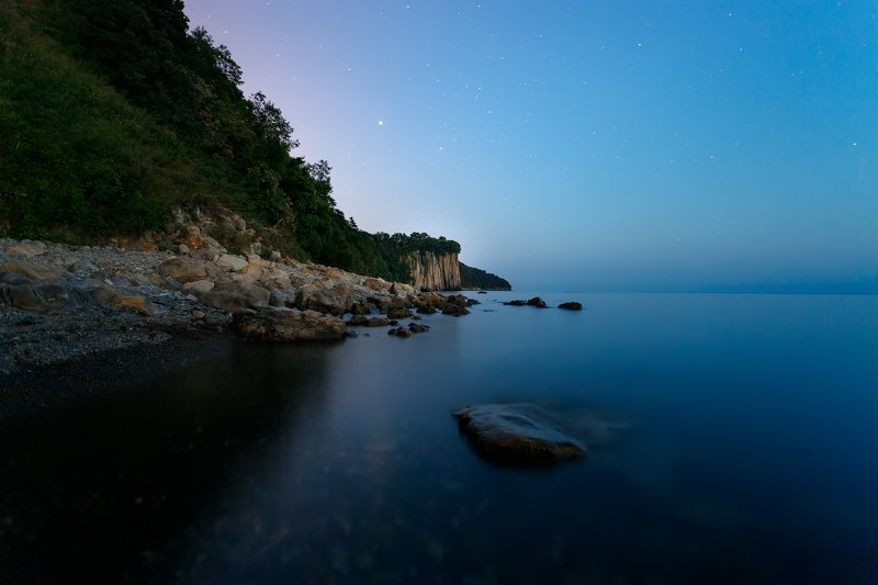 скала Киселева, пейзаж Ночное побережьеphoto preview