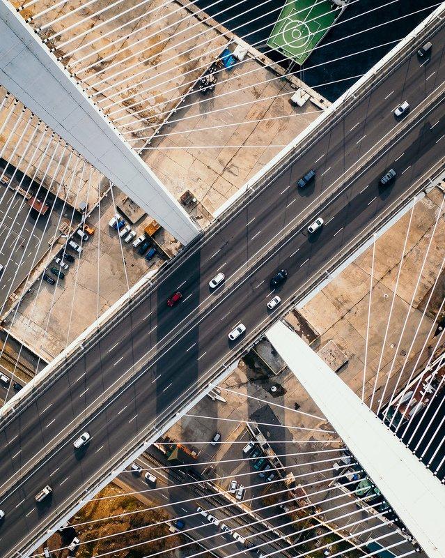 аэросъемка, владивосток, приморье, мост, золотой мост, паутина,пилон, геометрия, линии, искажение Паутина Золотого мостаphoto preview