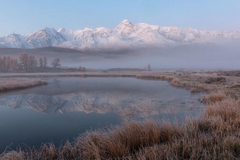 горный алтай, северочуйский хребет, курайская степь, джангысколь Морозное утроphoto preview