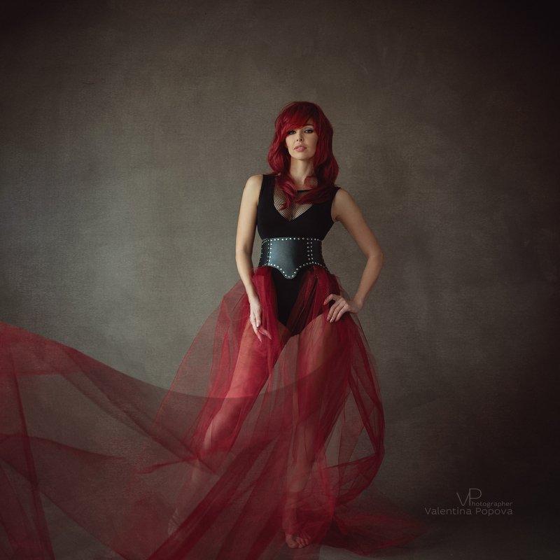 портрет, красный, арт, женщина, красныеволосы Ритаphoto preview