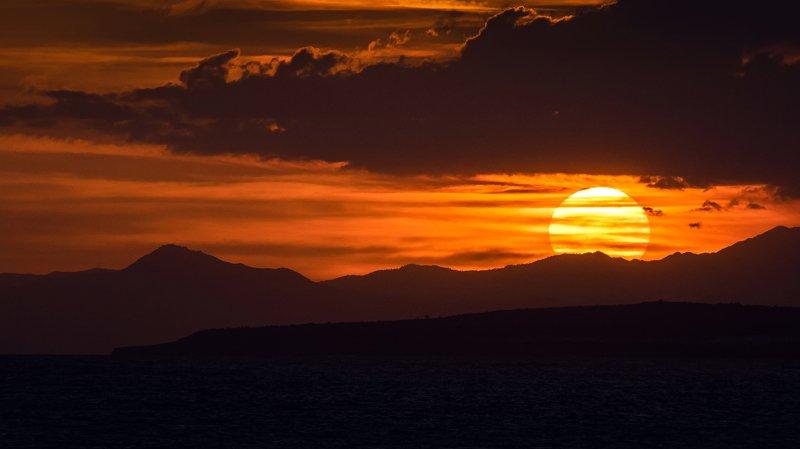 закат, кипр, горы, море, sunset, cyprus, landscape Олимбус в закатном солнцеphoto preview