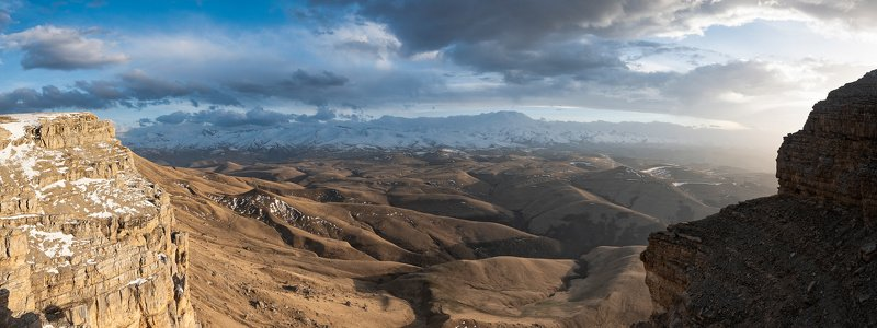 пейзаж, плато, КБР, Россия, просторы, горы, Эльбрус, панорама, красота, туризм, пейзажная фотография Вид на Эльбрус с плато Канжолphoto preview