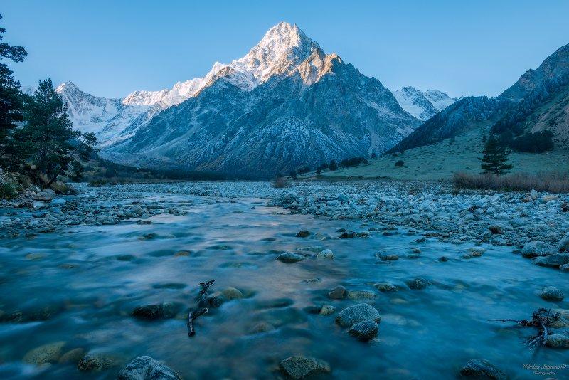кабардино-балкарский высокогорный заповедник, кбр, кавказ, ущелье, северный кавказ, заморозки \