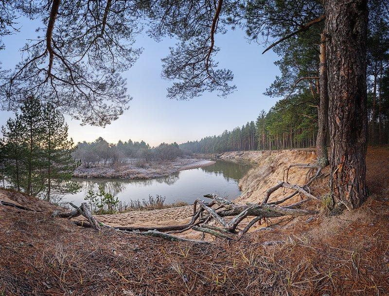 Река Киржач у деревни Старово.photo preview