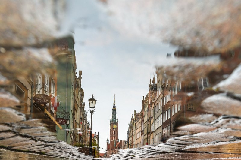 gdansk, city, architecture, poland, building Cloudy and rainy Gdańskphoto preview