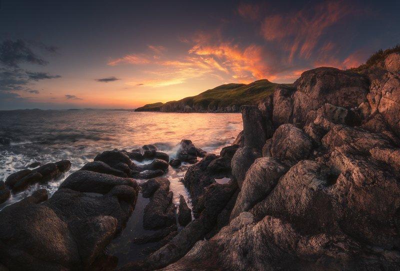 море, скалы, закат ***photo preview