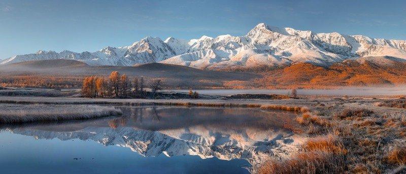 алтай. осень горы. озеро. Отражения осени.photo preview