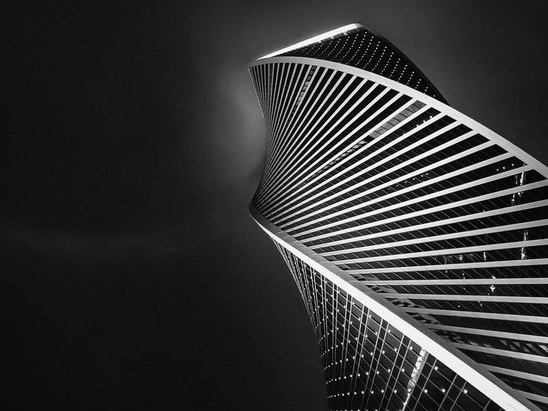 мобильная фотография, город, небоскрёб, небо,линии, архитектура Линии Москва-Ситиphoto preview