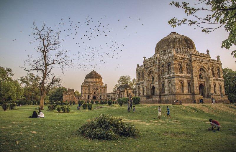 lodi garden, delhi Вечер в паркеphoto preview