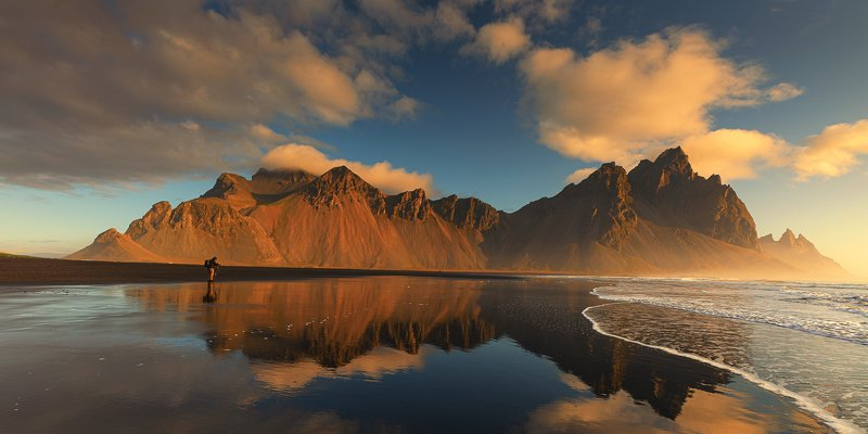 Vestrahorn sunrise.photo preview