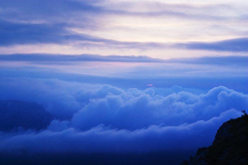 крым, демерджи, закат, облака ```photo preview