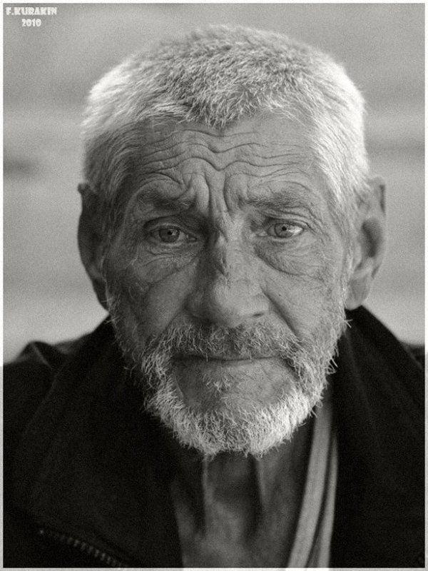 мужчина, портрет, лица, люди, жанровый портрет Старый сиделец...photo preview