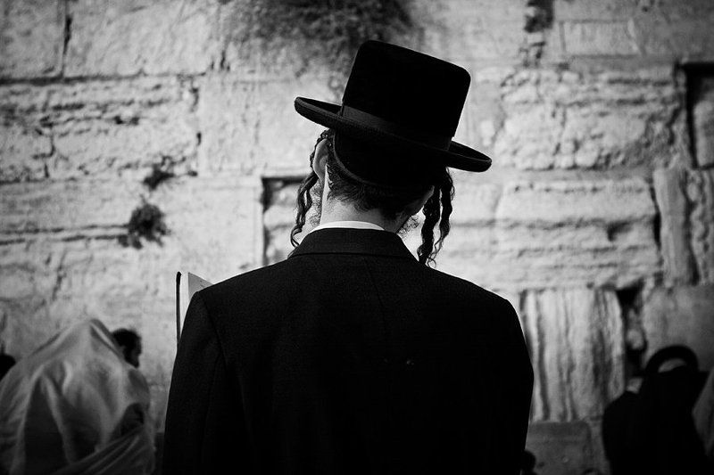 jerusalem, prayer, western wall blackת and white *****photo preview