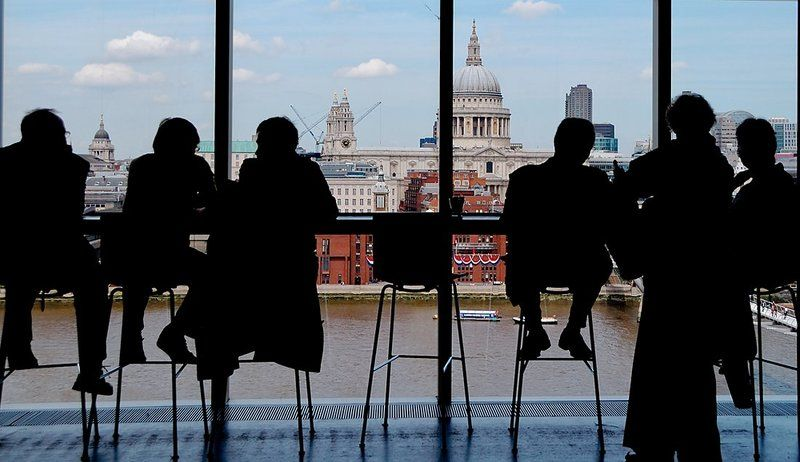 великобритания, англия, лондон, собор святого павла, темза, тейт-модерн, кафе Силуэтыphoto preview