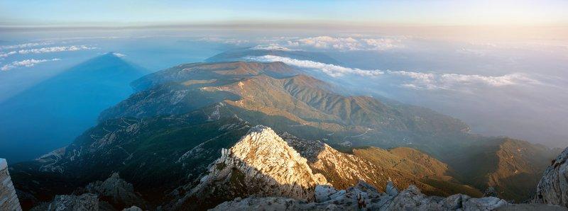 рассвет, греция, горы, море, афон, landscape Athos topphoto preview